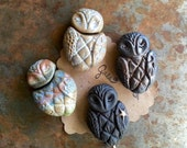 Star Wing Owl / Ceramic Bead Pre-Order - Made To Order
