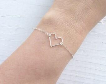 Floating Open Heart Bracelet
