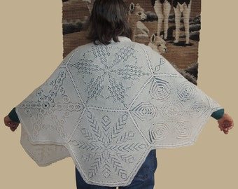 Snowflake Cape Pdf Lace knitting pattern