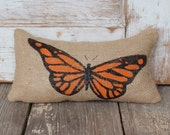 Butterfly -  Burlap Doorstop - Door Stop