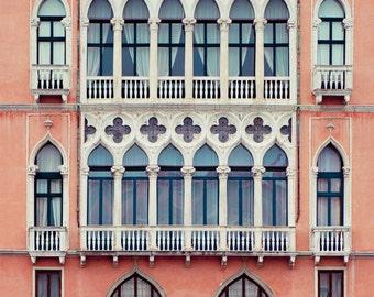 "Venice Photography, Italy Art Print, Wall Art, Venice Architecture Print, Italy Photography Print, Pink Art, ""Pink Gothic"""