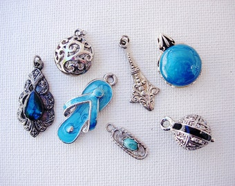 Sweet Lot of Various Vintage Pendants-Charms Jewelry Components