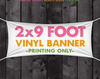2x9 Foot Vinyl Banner for your Craft Show Booth