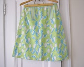Vintage Lilly Pulitzer Penguin Pattern Skirt