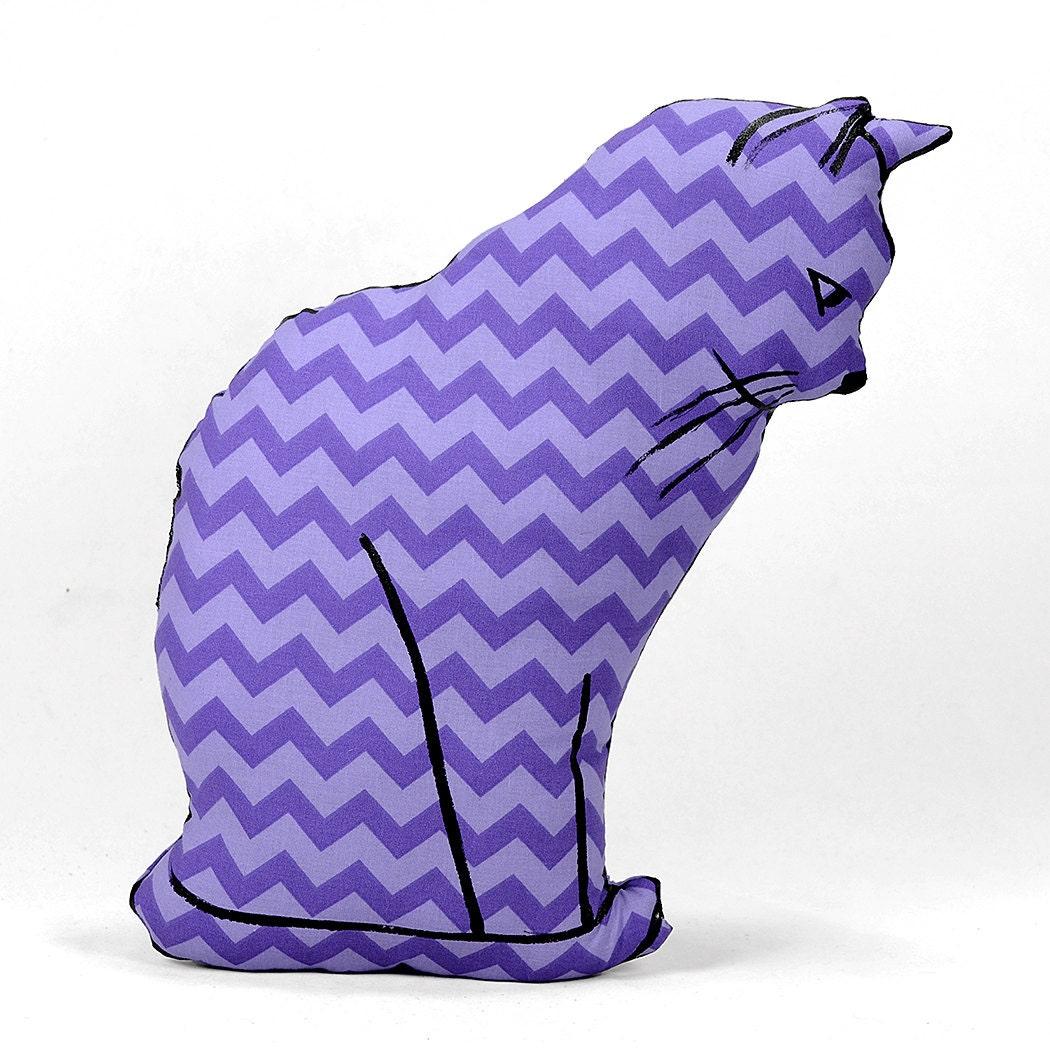 Large Animal Shaped Pillows : decorative pillow cat pillow animal pillow cat profile