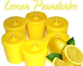 6 Lemon Pound Cake Votive Candles Tangy Lemon Scent