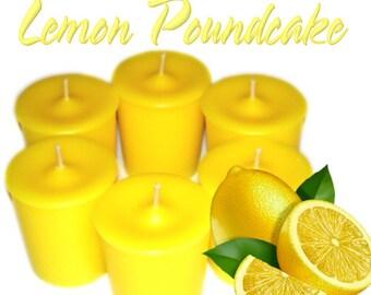 6 Lemon Pound Cake Votive Candles Tangy Lemon Scent