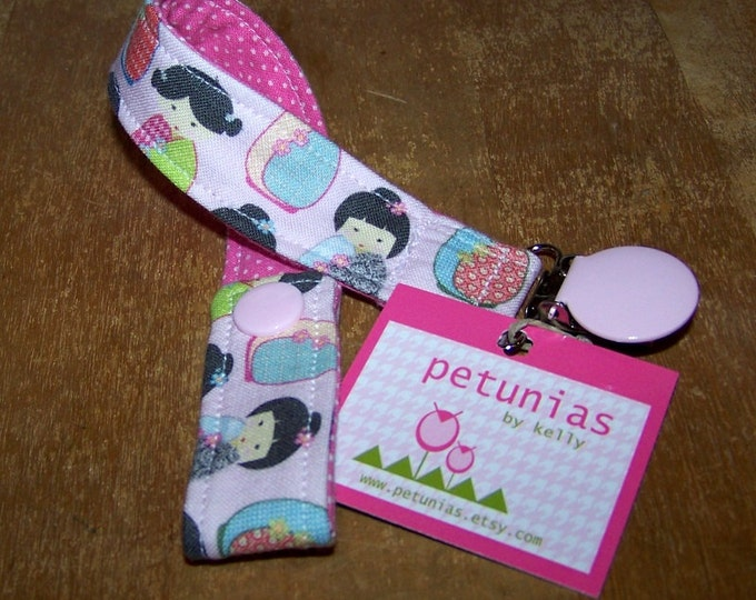 Pacifier Keeper Clip Binky Holder by Petunias