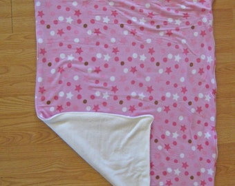 Dots and stars baby blanket