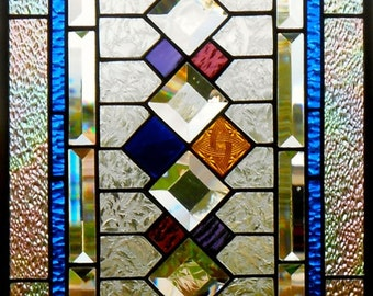 Stained Glass Window Panel, Retro II, Custom-made-to-Order