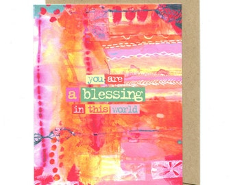 You Are a Blessing greeting card