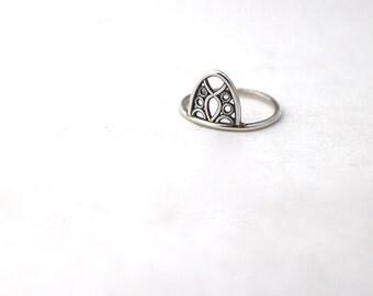Delicate Filigree Ring Sterling Silver