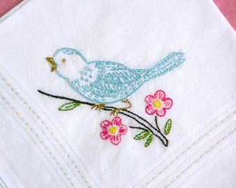 singing bird - handkerchief