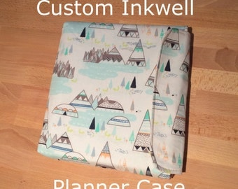 Custom Inkwell Press Planner Case Cover Sleeve - Livewell Planner - Zipper Velcro Magnetic Snap Matching Case