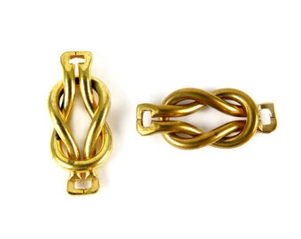 Vintage Brass Knot Connector Charms (6X) (V490)