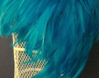 Feather Wig Turquoise Chic Posh Fashion