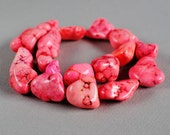 Dyed Pink Magnesite Large Nuggets --  20mm -- 15 inch strand