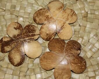 Coconut wood pendant, costume decoration or Polynesian jewelry, Tahitian dance costume supply