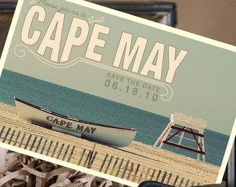Vintage Postcard Save the Date (Cape May) - Design Fee