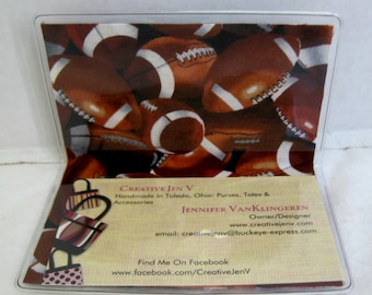 Football Business Card Holder Sports Mini Wallet