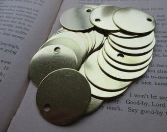 10 Brass 1.5 Inch Discs - 18 Gauge