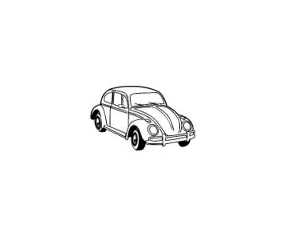 vw volkswagen bug beetle rubber stamp from terbearco on