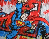 One Yard Cotton Superman Fabric