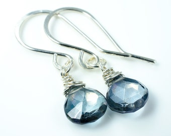 Blue Quartz Sterling Silver Earrings