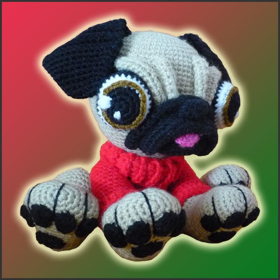 Amigurumi Pattern Crochet Barry Pug Dog DIY by ...