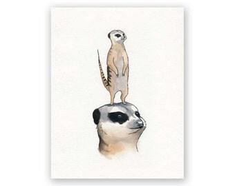 Meerkat Mother' Day Card