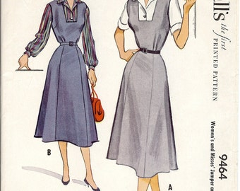 Vintage McCall's 1953 Blouse & Jumper Sewing Pattern 9464