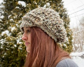 Crochet Pattern for a Chunky Newsboy Slouch Hat Beanie Women Men Winter Trending Urban Instant Download PDF