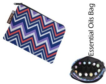 Essential Oil Bag - Essential Oil Pouch - Oil Bags - Waterproof lining fabric - Chevron Stripes Fabric