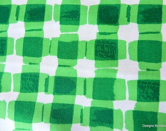 "One Fat Quarter Cut Quilt Fabric, ""Mad for Melon"" Green Plaid by Maria Kalinowski for Kanvas, Sewing-Quilting-Craft Supplies"