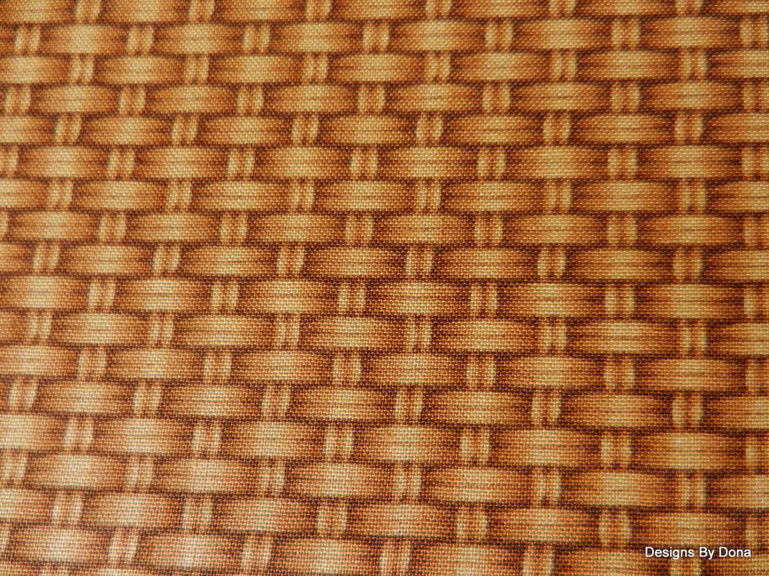 Rattan Basket Weaving Patterns : One half yard cut of quilt fabric tan basket weave rattan