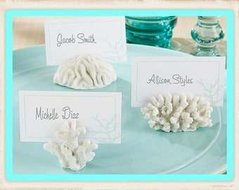 Coral Beach Theme Place Card Holders-Set of 6