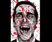 "Print 11x17"" - Patrick Bateman - American Psycho Serial Killer 80s Halloween Gothic Blood Wall Street Death Horror Christian Bale Pop Art"
