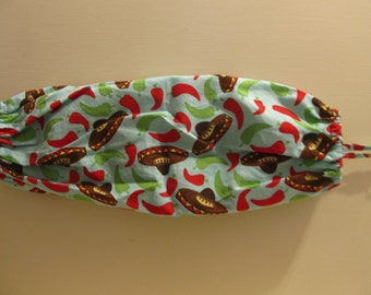 Sombrero Peppers Grocery Shopping Plastic Bag Organizer Holder