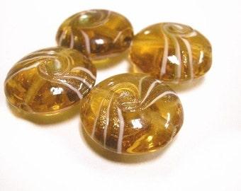 6pc fancy round glass beads-1394