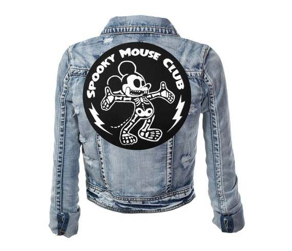 Spooky Mouse Club Iron-On Back Patch