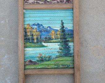 Painted Wash Board Vintage