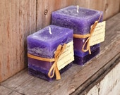 Pair of Fruitified Estate Scented Square Pillar Candles