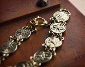 Signs of the Zodiac Bracelet / Horoscope Bracelet / Birthday Gifts / Gold Astrology Zodiac Signs