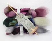 SPINNING KIT - Drop Spindle plus 3 oz. Handpainted Roving by Blarney Yarn