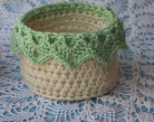 Crochet Pattern for Medium Basket with Drop Over Lace Organizing Basket Pattern Pattern No. 82