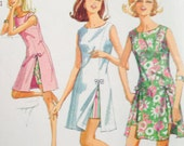 Vintage 60s Play Dress and Shorts Playsuit Sewing Pattern 31 bust Mod Retro sleeveless Minidress