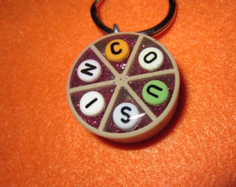 COUSIN  - Upcycled Brown Trivial Pursuit Pendant