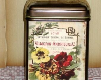 Keepsake Nasturtiums Tea Tin