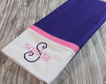 Purple Personalized Pillowcase