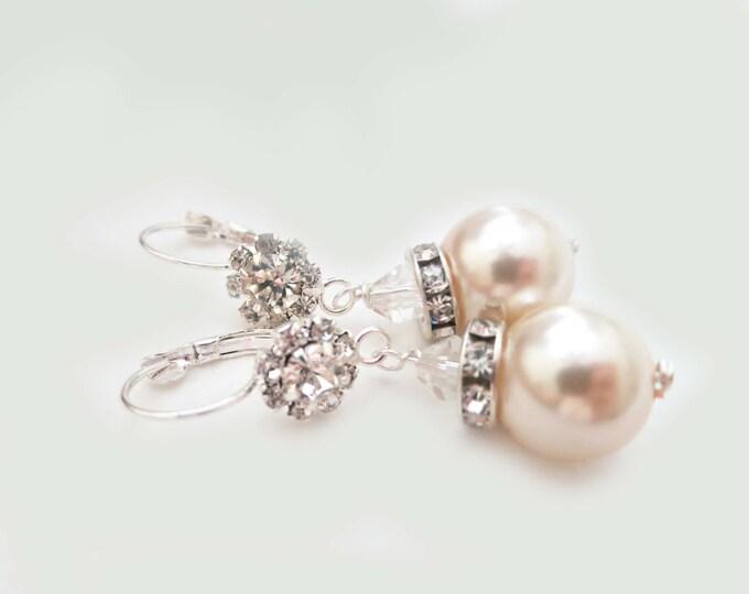 Large Pearl Drop Earrings STELLA